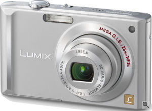 Panasonic's Lumix DMC-FX55 digital camera. Courtesy of Panasonic, with modifications by Michael R. Tomkins. Click for a bigger picture!