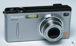 Panasonic's Lumix DMC-FX5 digital camera. Courtesy of Matsushita Electric Industrial Co. Ltd.