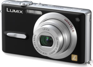 Panasonic's Lumix DMC-FX9 digital camera. Courtesy of Panasonic, with modifications by Michael R. Tomkins. Click for a bigger picture!