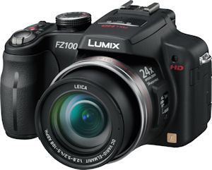 Panasonic's Lumix DMC-FZ100 digital camera. Photo provided by Panasonic Consumer Electronics Co. Click for a bigger picture!