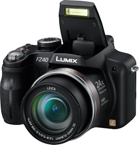 Panasonic's Lumix DMC-FZ40 digital camera. Photo provided by Panasonic Consumer Electronics Co. Click for a bigger picture!