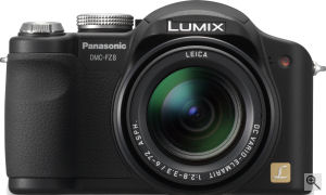 Panasonic's Lumix DMC-FZ8 digital camera. Courtesy of Panasonic, with modifications by Michael R. Tomkins.