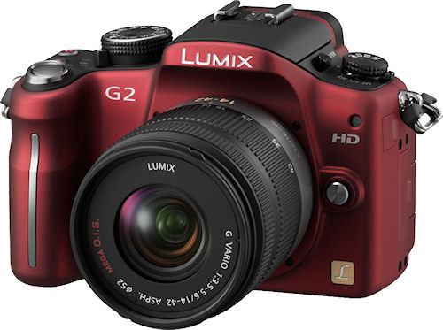 Panasonic's Lumix DMC-G2 single-lens direct view camera. Photo provided by Panasonic Consumer Electronics Co. Click for a bigger picture!