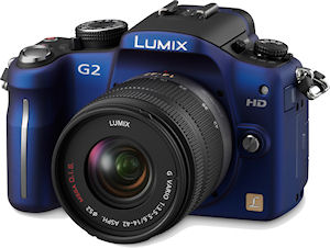 Panasonic's Lumix DMC-G2 digital camera. Photo provided by Panasonic Consumer Electronics Co. Click for a bigger picture!