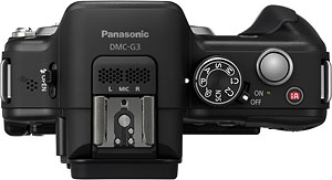 Panasonic's Lumix DMC-G3 compact system camera. Photo provided by Panasonic. Click for a bigger picture!
