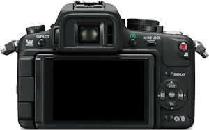 Panasonic's Lumix DMC-GH1 digital camera. Photo provided by Panasonic Consumer Electronics Co. Click for a bigger picture!