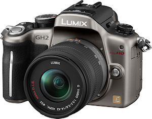 Panasonic's Lumix DMC-GH2 digital camera. Photo provided by Panasonic Consumer Electronics Co. Click for a bigger picture!