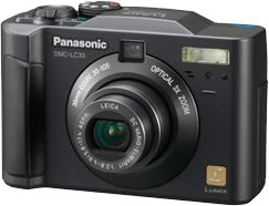 Panasonic's Lumix DMC-LC33 digital camera. Courtesy of Panasonic, with modifications by Michael R. Tomkins.