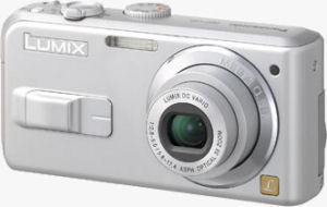 Panasonic's Lumix DMC-LS2 digital camera. Courtesy of Panasonic, with modifications by Michael R. Tomkins.
