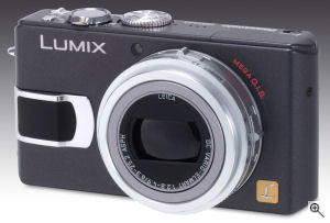 Panasonic's Lumix DMC-LX1 digital camera. Courtesy of Panasonic, with modifications by Michael R. Tomkins. Click for a bigger picture!
