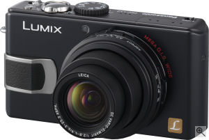 Panasonic's Lumix DMC-LX2 digital camera. Courtesy of Panasonic, with modifications by Michael R. Tomkins. Click for a bigger picture!