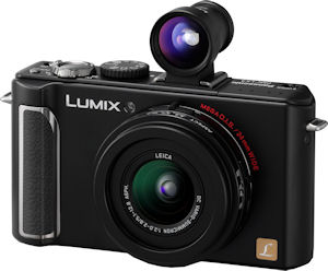 Panasonic's Lumix DMC-LX3 digital camera. Courtesy of Panasonic, with modifications by Michael R. Tomkins. Click for a bigger picture!