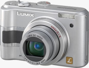 Panasonic's Lumix DMC-LZ3 digital camera. Courtesy of Panasonic, with modifications by Michael R. Tomkins.