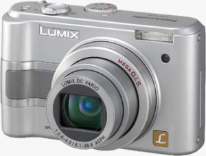 Panasonic's Lumix DMC-LZ5 digital camera. Courtesy of Panasonic, with modifications by Michael R. Tomkins.