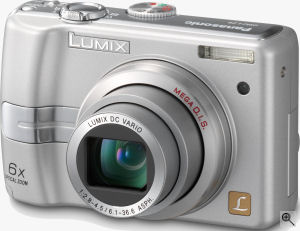 Panasonic's Lumix DMC-LZ6 digital camera. Courtesy of Panasonic, with modifications by Michael R. Tomkins.