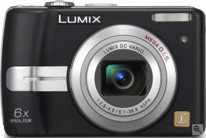 Panasonic's Lumix DMC-LZ7 digital camera. Courtesy of Panasonic, with modifications by Michael R. Tomkins.