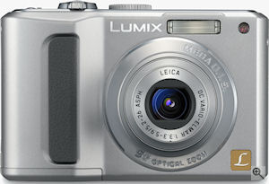 Panasonic's Lumix DMC-LZ8 digital camera. Courtesy of Panasonic, with modifications by Michael R. Tomkins. Click for a bigger picture!
