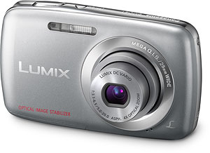Panasonic's Lumix DMC-S1 digital camera. Photo provided by Panasonic Consumer Electronics Co. Click for a bigger picture!