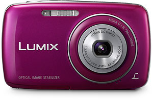 Panasonic's Lumix DMC-S3 digital camera. Photo provided by Panasonic Consumer Electronics Co. Click for a bigger picture!