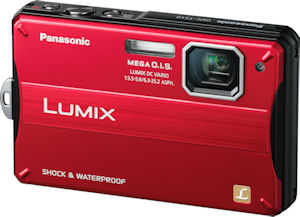Panasonic's Lumix DMC-TS10 digital camera. Photo provided by Panasonic Consumer Electronics Co. Click for a bigger picture!