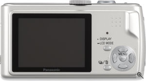 Panasonic's Lumix DMC-FX01 digital camera. Courtesy of Panasonic, with modifications by Michael R. Tomkins. Click for a bigger picture!