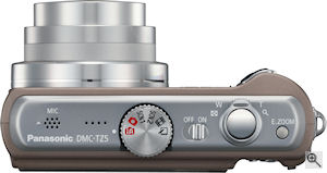Panasonic's Lumix DMC-TZ5 digital camera. Courtesy of Panasonic, with modifications by Michael R. Tomkins. Click for a bigger picture!