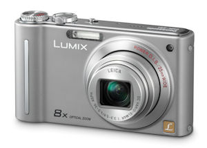 Panasonic's Lumix DMC-ZR1 digital camera. Photo provided by Panasonic Consumer Electronics Co. Click for a bigger picture!