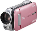 The Xacti DMX-GH1, pink version. Photo provided by Sanyo Electric Co. Ltd. Click for a bigger picture!