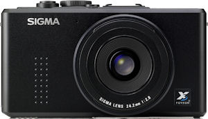 Sigma's DP2 digital camera. Courtesy of Sigma, with modifications by Michael R. Tomkins. Click for a bigger picture!