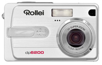 Rollei's dp6200 digital camera. Courtesy of Rollei, with modifications by Michael R. Tomkins. Click for a bigger picture!