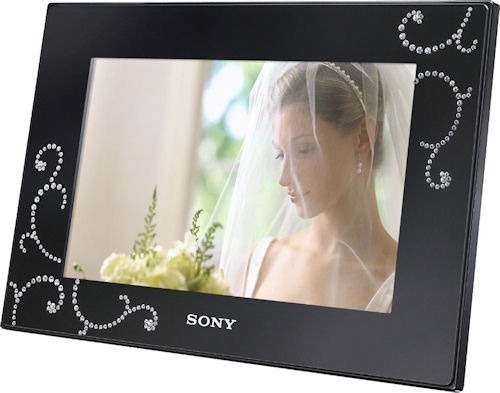 Sony's limited edition DPF-D72N/BQ S-Frame with Swarovski Elements. Photo provided by Sony Electronics Inc. Click for a bigger picture!
