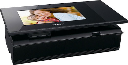 Sony's DPP-F700 S-Frame with screen tilted down. Photo provided by Sony Electronics Inc. Click for a bigger picture!