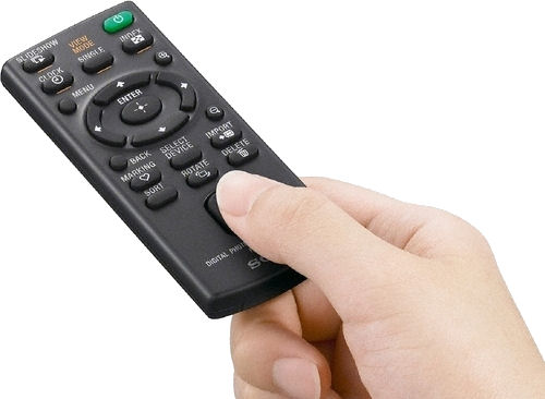 S-Frame remote control. Photo provided by Sony Electronics Inc. Click for a bigger picture!