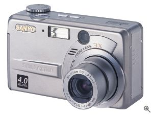 Sanyo's DSC-AZ3 digital camera. Courtesy of Sanyo Electric Co. Ltd. with modifications by Michael R. Tomkins.