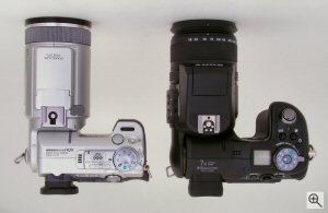 Sony's Cyber-shot DSC-F828 digital camera comparison. Copyright ©2003, The Imaging Resource. All rights reserved. Click for a bigger picture!