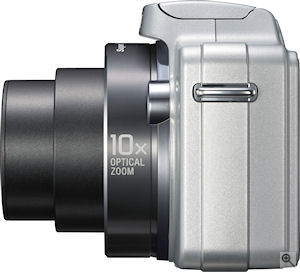 Sony's Cyber-shot DSC-H10 digital camera. Courtesy of Sony, with modifications by Michael R. Tomkins. Click for a bigger picture!