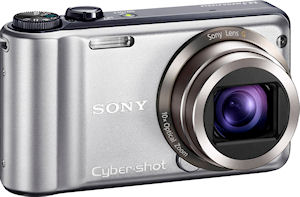 Sony's Cyber-shot DSC-H55 digital camera. Photo provided by Sony Electronics Inc. Click for a bigger picture!