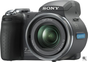 Sony's Cyber-shot DSC-H5 digital camera. Courtesy of Sony, with modifications by Michael R. Tomkins. Click for a bigger picture!
