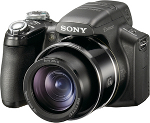 Sony's Cyber-shot DSC-HX1 digital camera. Photo provided by Sony Electronics Inc. Click for a bigger picture!