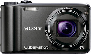 Sony's Cyber-shot DSC-HX5V digital camera. Photo provided by Sony. Click for a bigger picture!