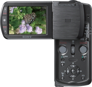 Sony's Cyber-shot DSC-M1 digital camera. Courtesy of Sony, with modifications by Michael R. Tomkins. Click for a bigger picture!