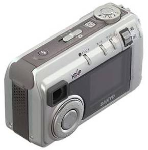 Sanyo's DSC-MZ1  digital camera, rear view. Courtesy of Sanyo Japan.