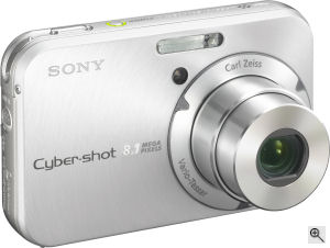 Sony's Cyber-shot DSC-N1 digital camera. Courtesy of Sony, with modifications by Michael R. Tomkins. Click for a bigger picture!