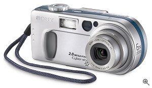 Sony's Cyber-shot DSC-P2 digital camera. Courtesy of Sony, with modifications by Michael R. Tomkins.