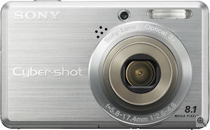 Sony's Cyber-shot DSC-S780 digital camera. Courtesy of Sony, with modifications by Michael R. Tomkins. Click for a bigger picture!