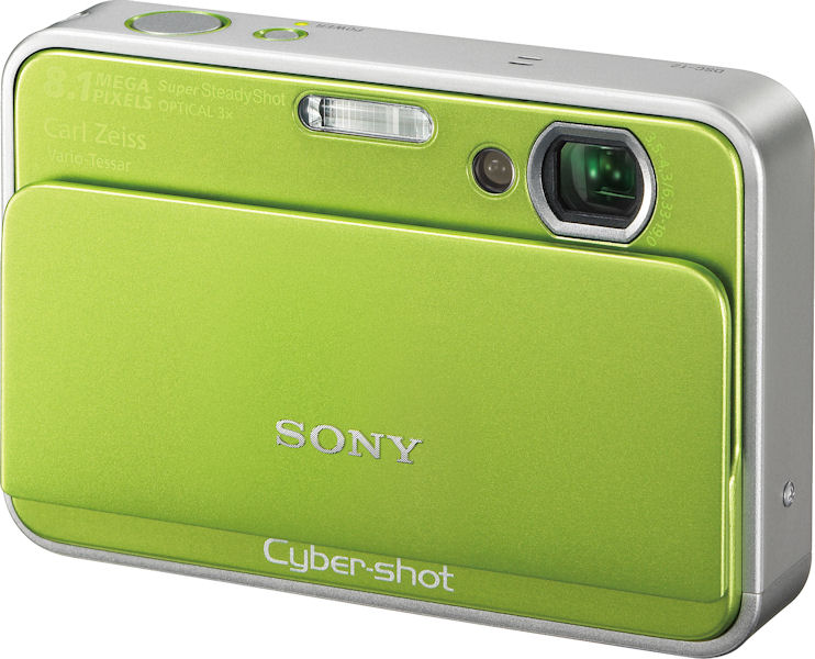 Sony's Cyber-shot DSC-T2 digital camera. Courtesy of Sony, with ...