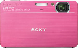 Sony's Cyber-shot DSC-T700 digital camera. Courtesy of Sony, wih modifications by Michael R. Tomkins. Click for a bigger picture!