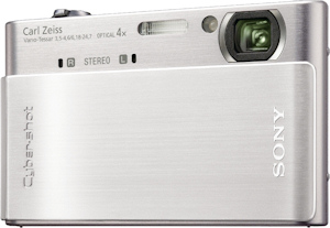 Sony's Cyber-shot DSC-T900 digital camera. Photo provided by Sony Electronics Inc. Click for a bigger picture!