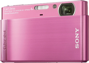 Sony's Cyber-shot DSC-T90 digital camera. Photo provided by Sony Electronics Inc. Click for a bigger picture!