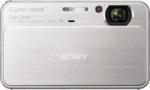 Sony's Cyber-shot DSC-T99 digital camera. Photo provided by Sony Electronics Inc. Click for a bigger picture!